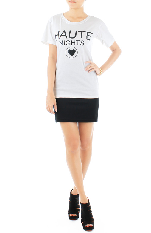 Haute Nights Tee - White