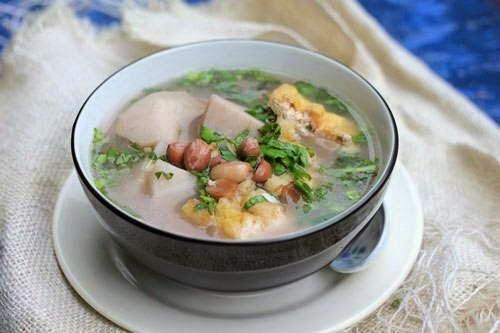 Vietnamese Recipes Vegetarian - Canh Khoai Sọ Nấu Lạc và Đậu Phụ
