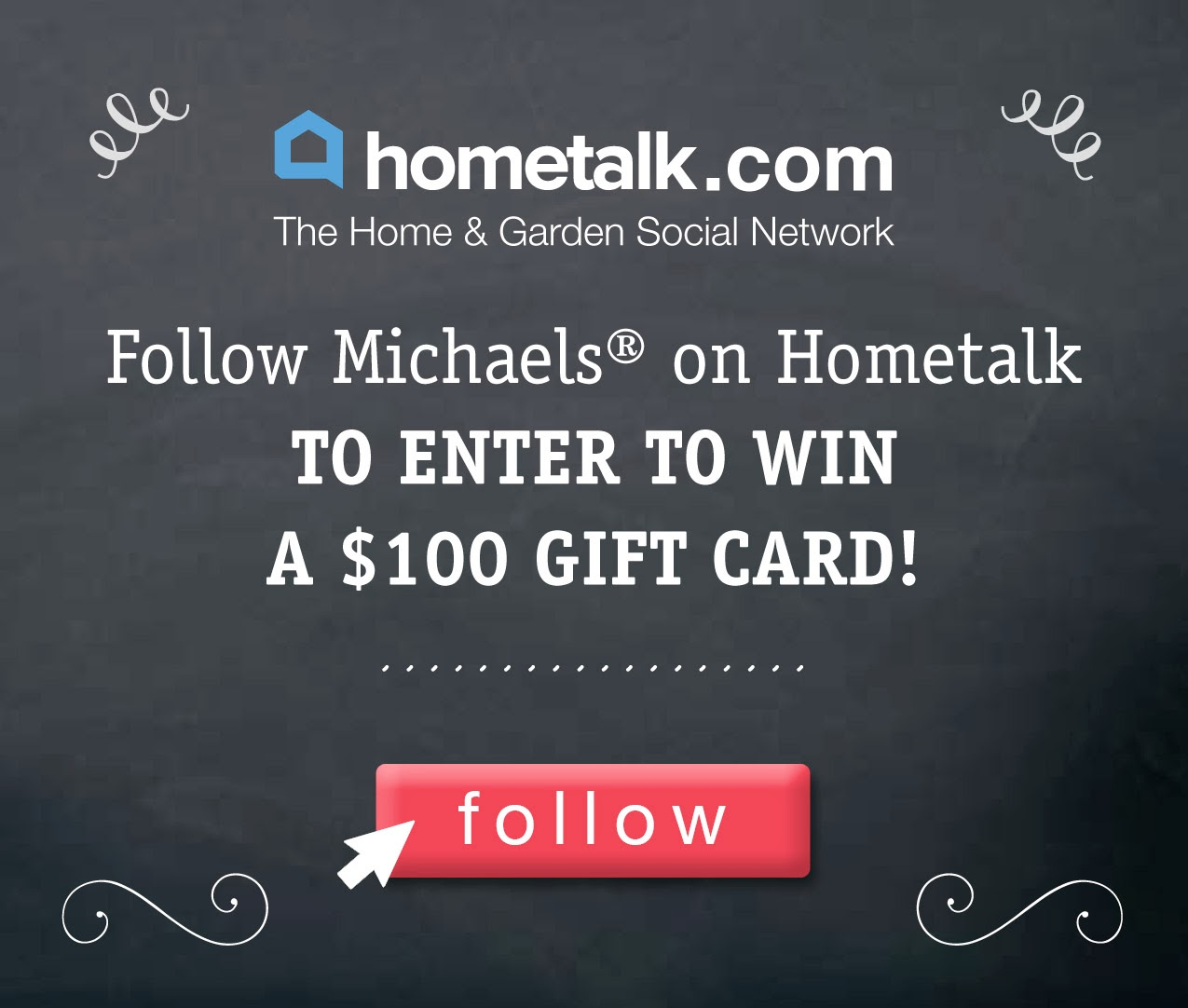 win $100 Gift Card with Michaels and Hometalk via http://deniseonawhim.blogspot.com