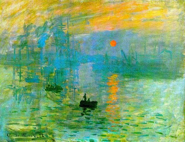 Impressão, nascer do sol de Claude Monet