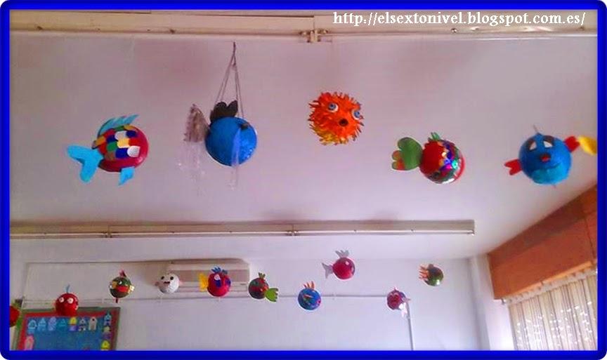 El papel maché: Confeccionamos un pez-globo, con papel reciclado ...