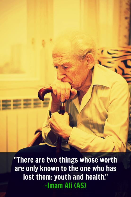 There are two things whose worth are only known to the one who has lost them: youth and health.
