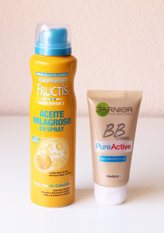 Aceite Milagroso y BB Pure Active de Garnier