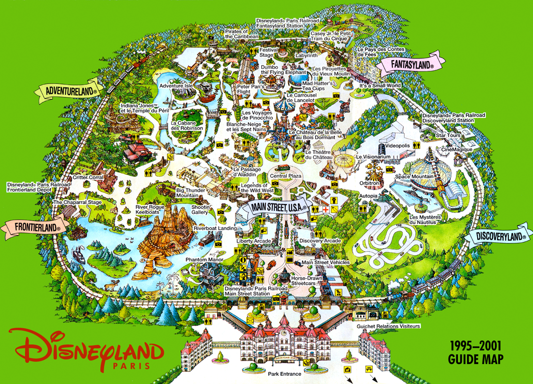 disneyland paris theme park map hd gallery