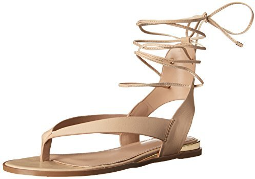 Aldo nude flat thong sandals with lace up