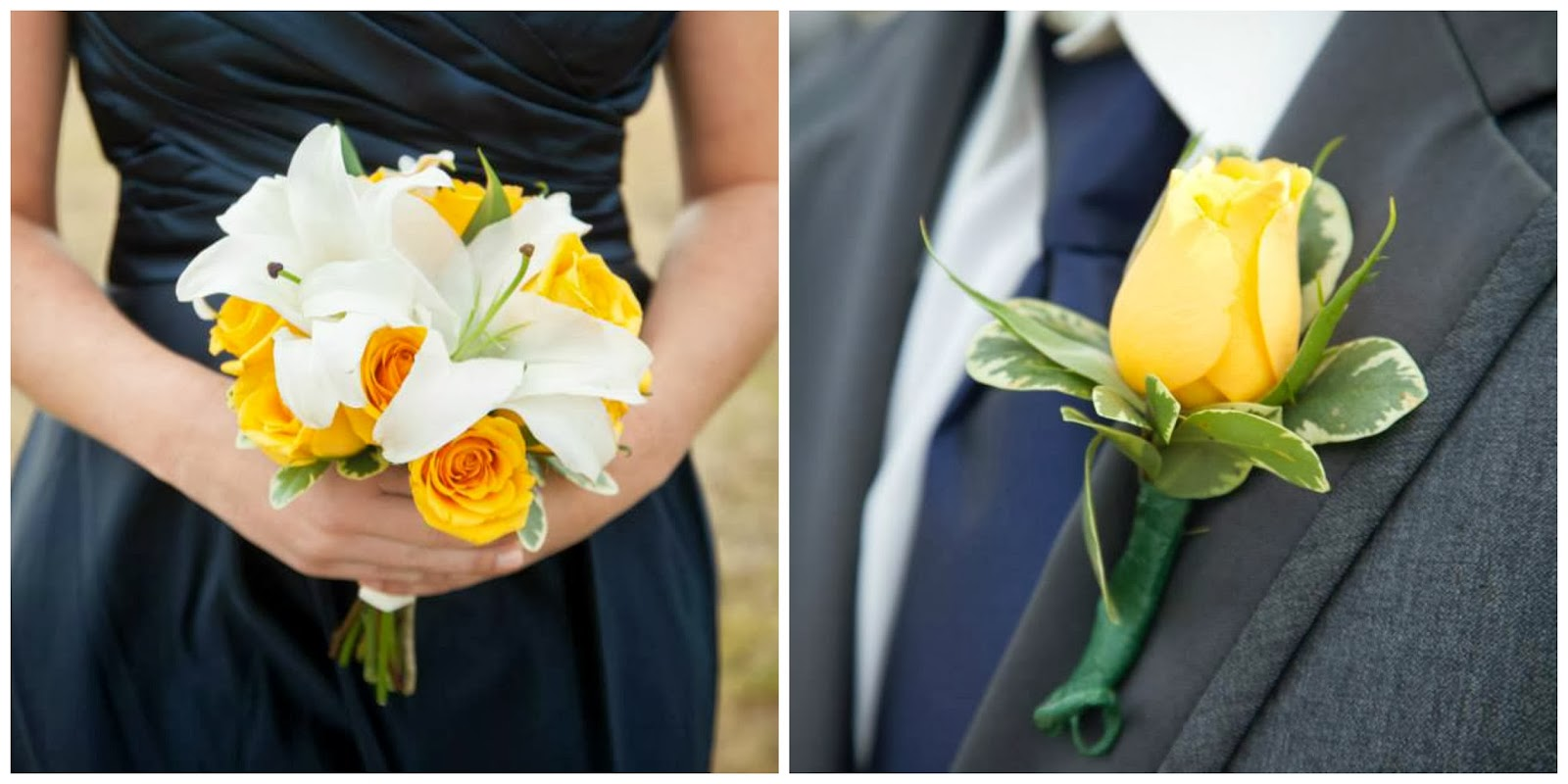 yellow rose, wedding party flowers