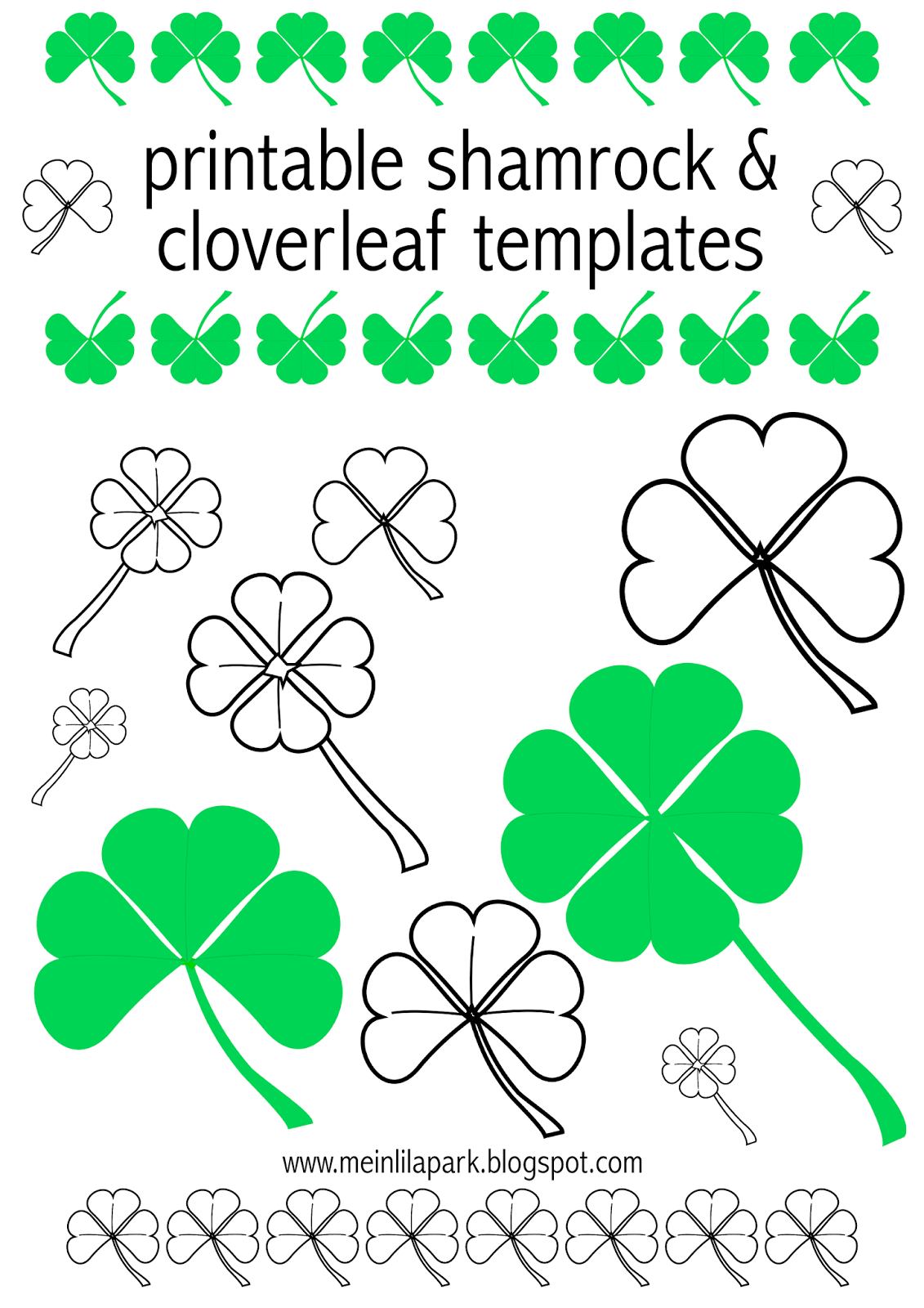 free digital shamrock scrapbooking paper and templates kleeblatt