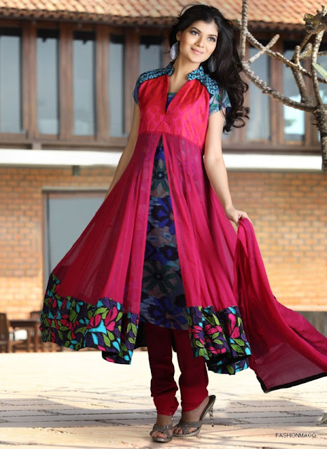Anarkali-Frocks-New-Double-Shirt-Style