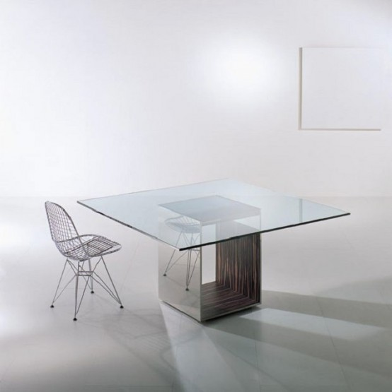 55 Glass Top Dining Tables Original Bases Modern House Plans Designs