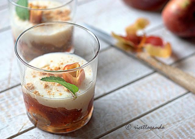 ricetta dolce con marmellata di mele e budino alla vaniglia