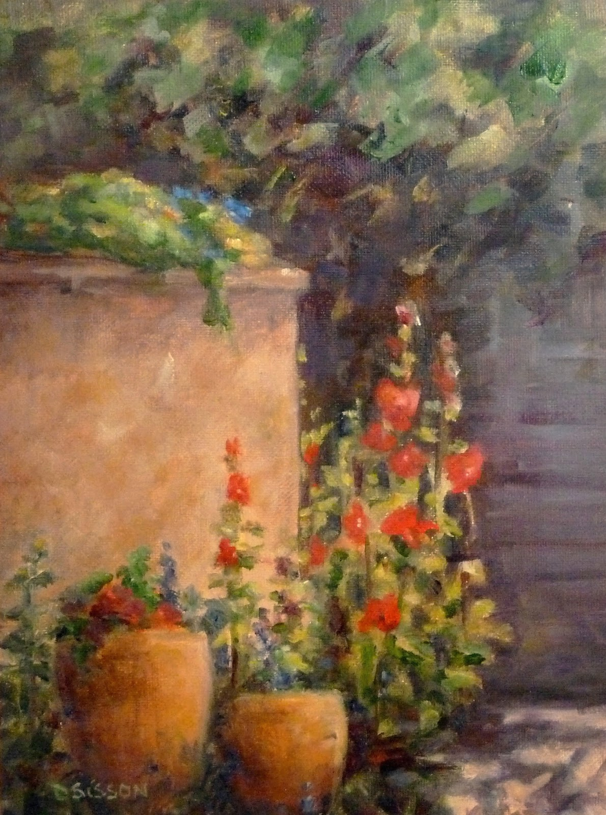Southwest Container Garden Oil Painting