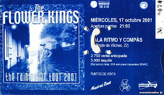 entrada de concierto de the flower king