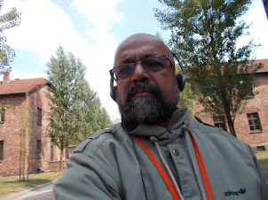 """Self on the guided tour of """"Auschwitz-I"""" and """"Auschwitz II- Birkeneau"""" concentration Camps."""
