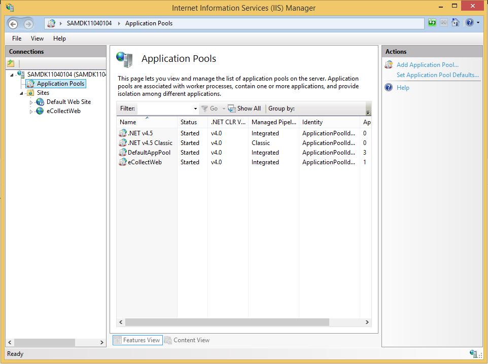 enable 32 bit application in iis