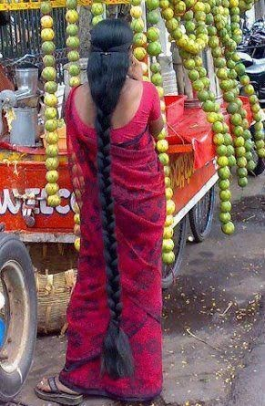 Funny Indian Aunty With Long Hair