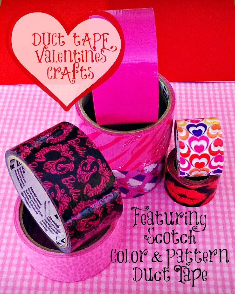 Scotch Duct Tape Valentines crafts