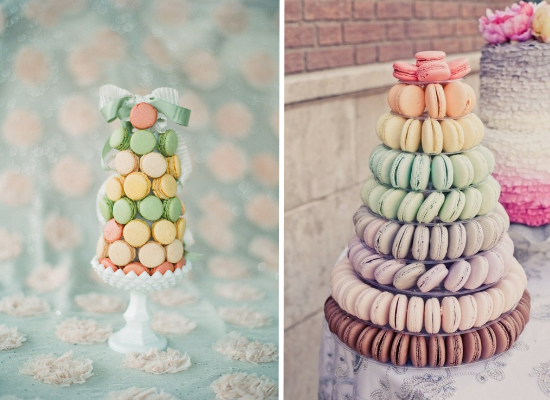 Wedding cake alternative ideas, wedding dessert, macaroons tower