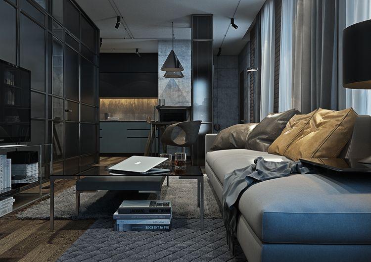Modern loft apartment in brooklyn by yo dezeen home img for Modern loft apartment