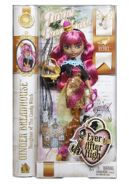 JUGUETES - EVER AFTER HIGH  Ginger Breadhouse | Muñeca  Producto Oficial 2015 | Mattel CDH54 | A partir de 6 años