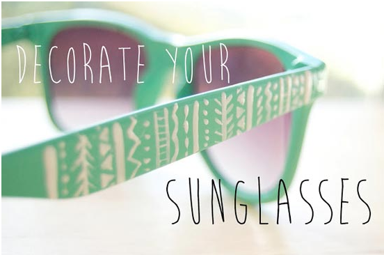 decorate your sunglasses