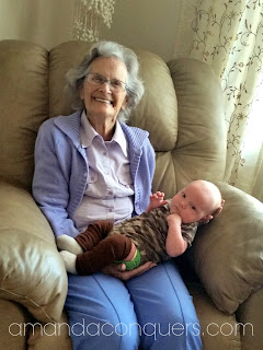 """The Beauty in Our Wrinkly Grandmas """"She didn't leave a whole lot behind, but that's only because she spent her whole life giving it away. She emptied and emptied herself for those she loved, always trusting God to refill."""""""