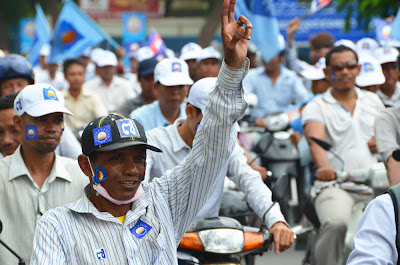 CNRP supporters, Sam Rainsy return
