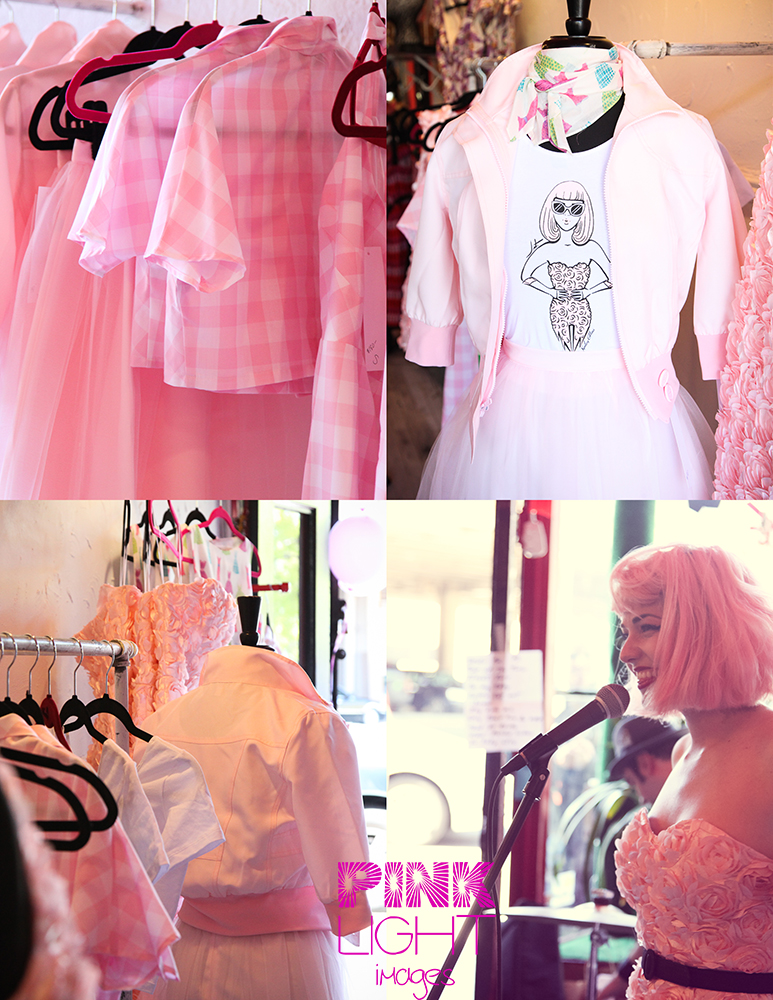Kenley Collins from Project Runway launches her fashion line at slapback in brooklyn with gorgeous pinks and jackets and dresses