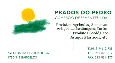 Prados do Pedro - Comercio de sementes ldª