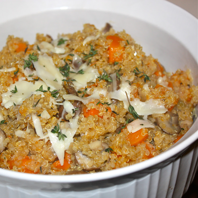 Wild Mushroom and Butternut Squash Quinoa Risotto - Get Off Your Tush ...