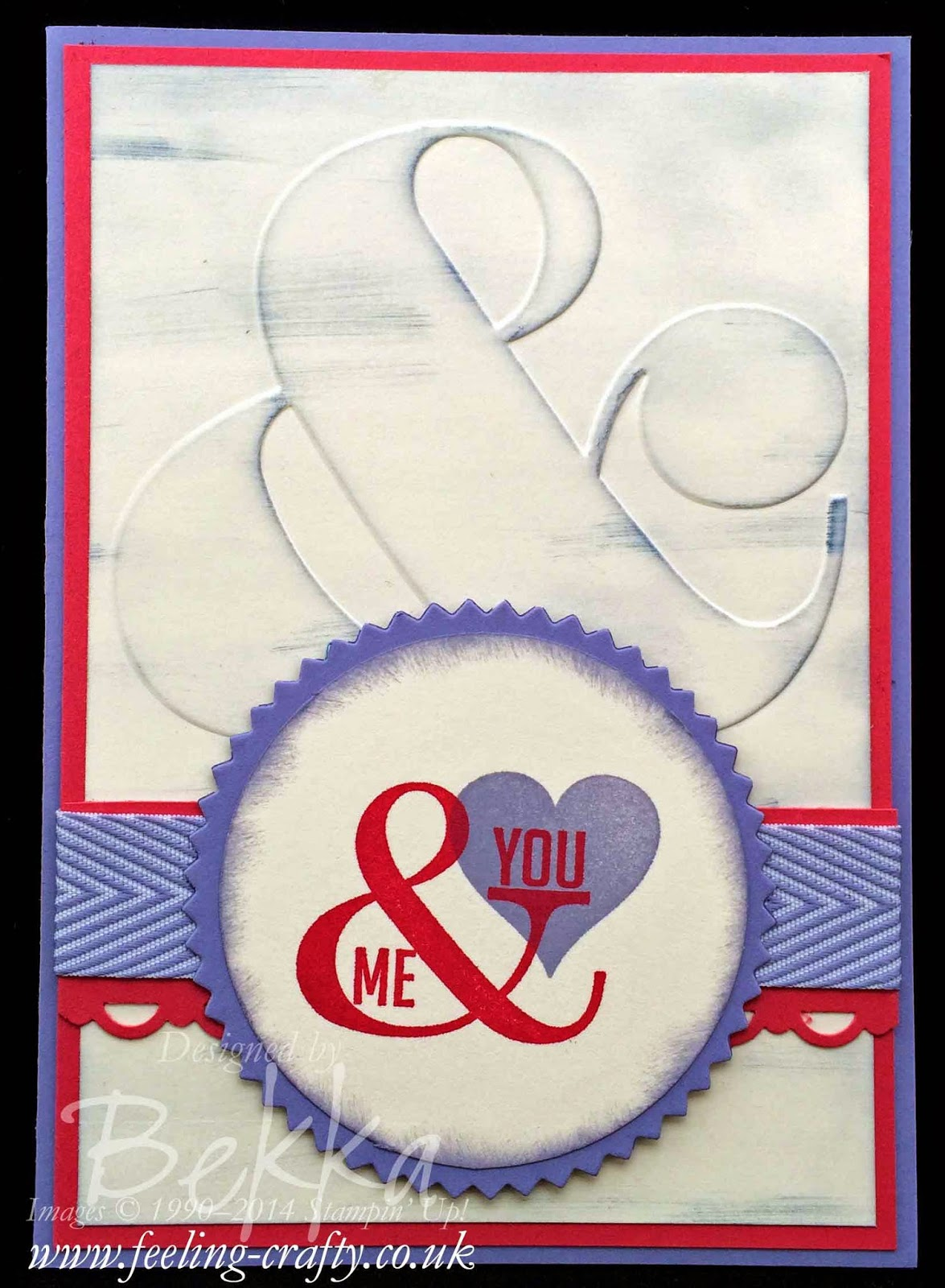Perfect Pennants You and Me Card using Stampin' Up! Supplies - get them here in the UK