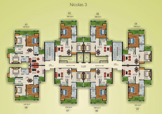 Czar Suites :: Floor Plans:-Cluster Plan Nicolas-3