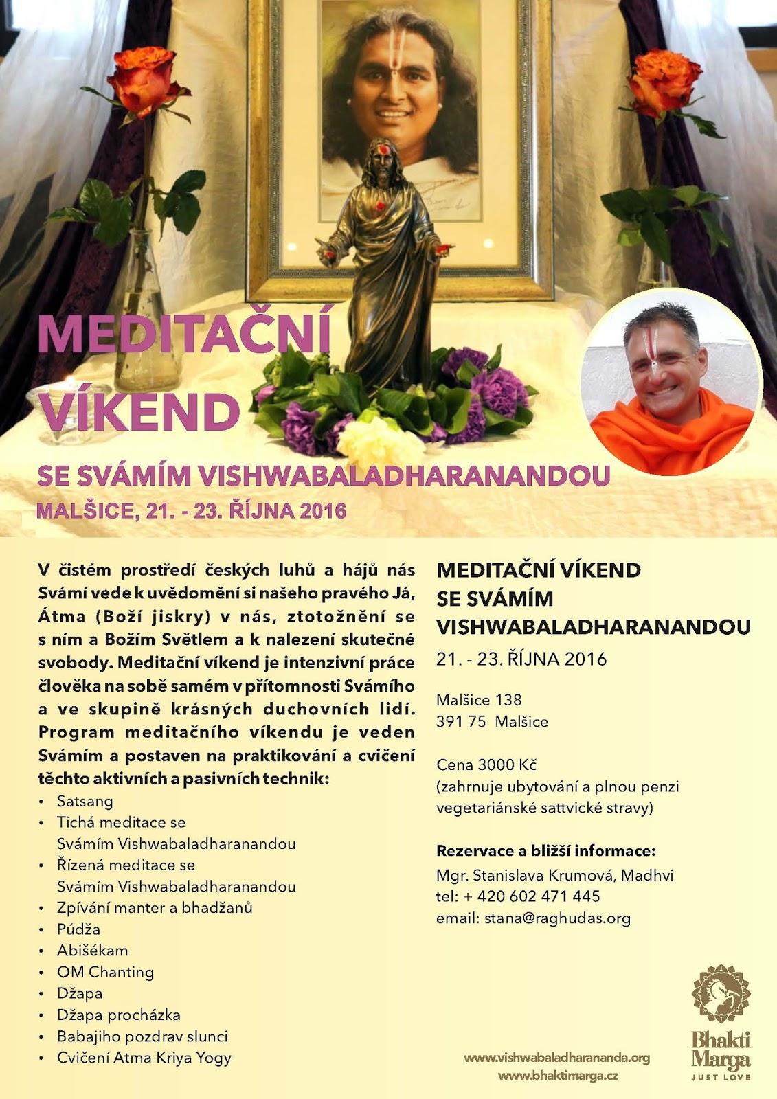Meditační víkend se Svámím Vishwabaladharanandou
