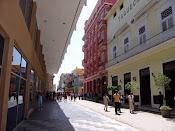 Calle Obispo En La Habana, Cuba