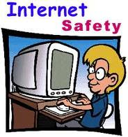 picture of kid at computer that says internet safety