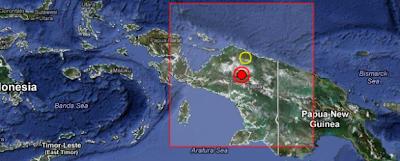 Epicentro sismo 7,1 grados, Indonesia, 06 de Abril de 2013