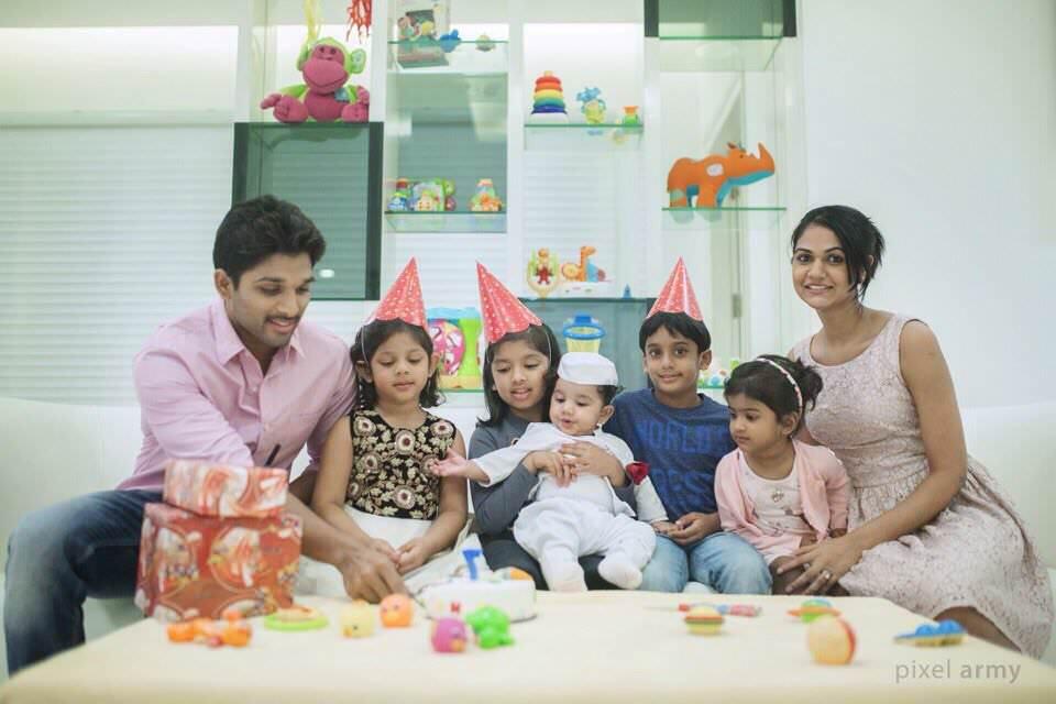 ... Allu Arjun with wife and son, Allu Ayaan Gallery, Allu Ayaan HD images