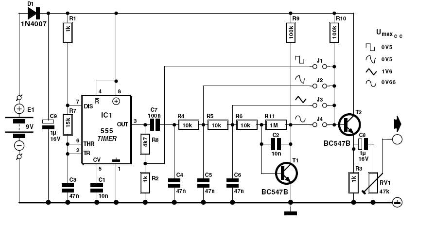Signal Generator With 555 Circuit Diagram Electronic
