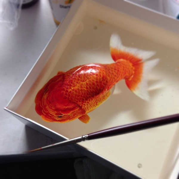 Animals Painting on Layers of Resin