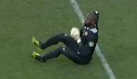 Congo goalie butt shuffle