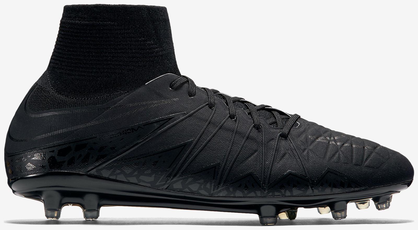 Nike Hypervenom All Black Nike 2015-2016 Academy...