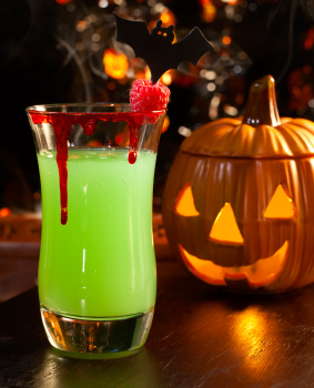 this is a great example of why holiday drinks have a bad reputation but i found worse melon liqueur makes a regular appearance particularly in shots - Great Halloween Drinks