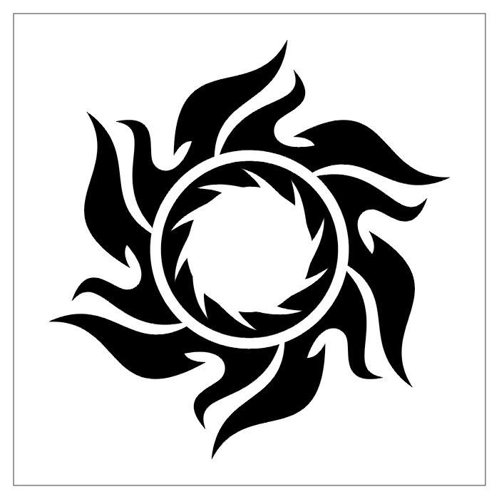 Tribal Sun Tattoo Designs Part 01
