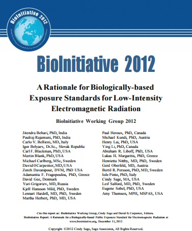 Biolnitiative 2012 - ARationale for Biologically-based Exposure StandardsforLow