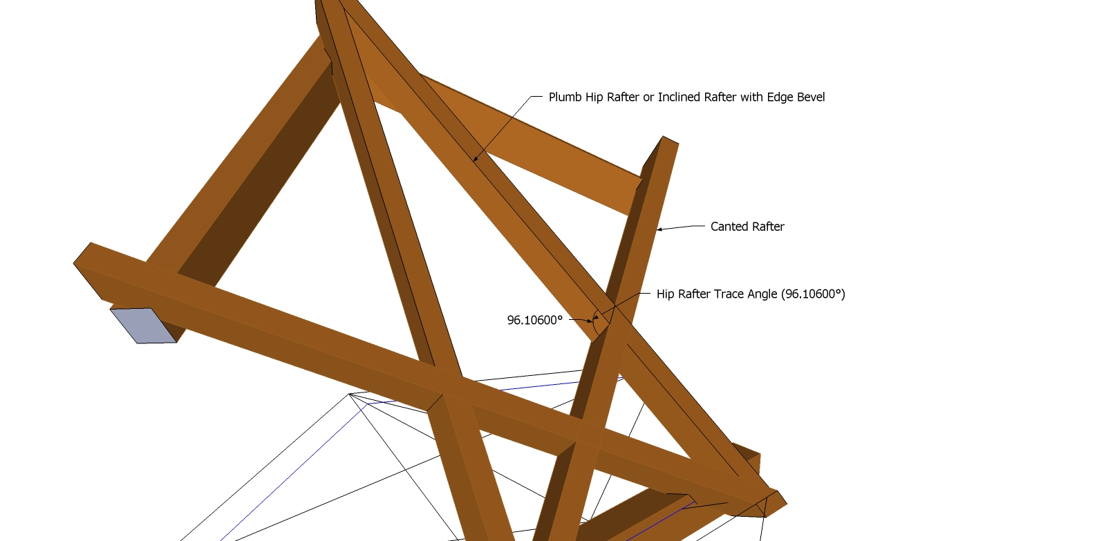 Roof Framing Geometry: Plumb Hip Rafter or Inclined Rafter with Edge ...