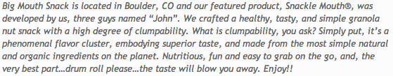 about snackle mouth company description