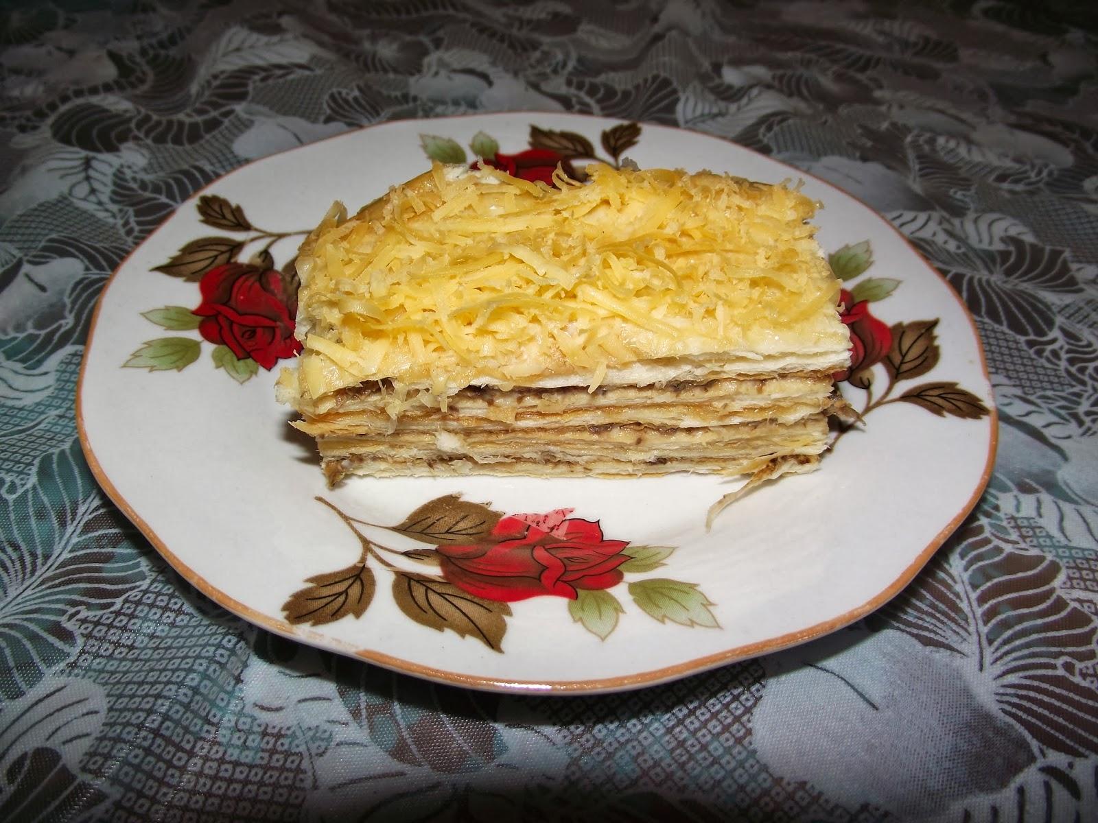 Рыбный торт наполеон рецепт