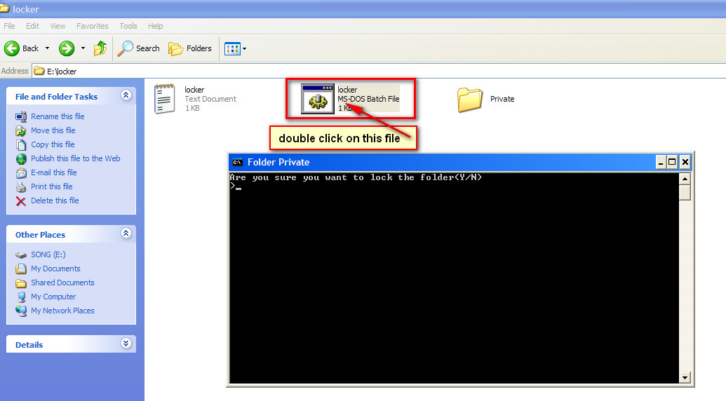lock a folder or file without any software 08