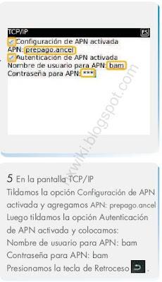Configuracion APN Ancel Blackberry Ancel
