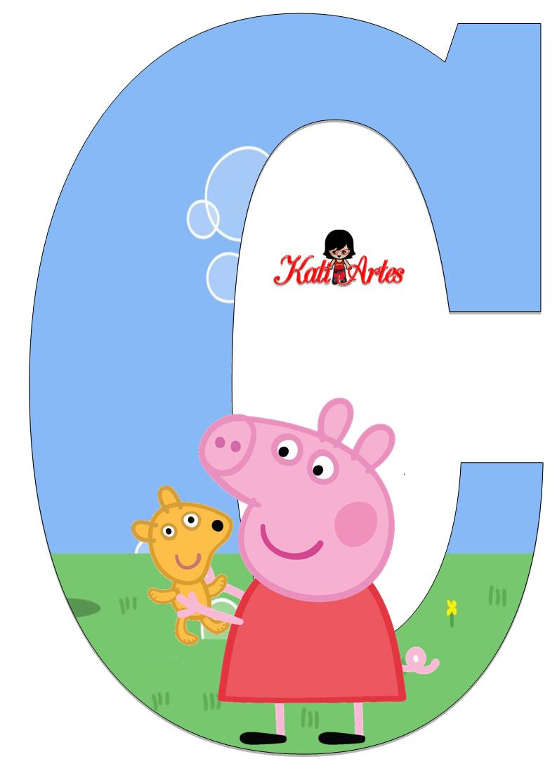 Alfabeto de Peppa Pig y Perrito 2.   alphabet letters ...
