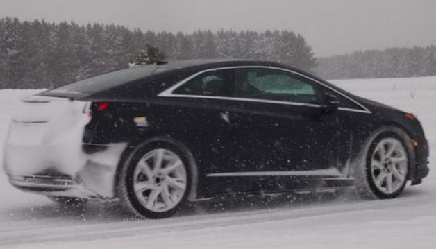 Cadillac ELR meets snow and ice in northern Michigan winter testing
